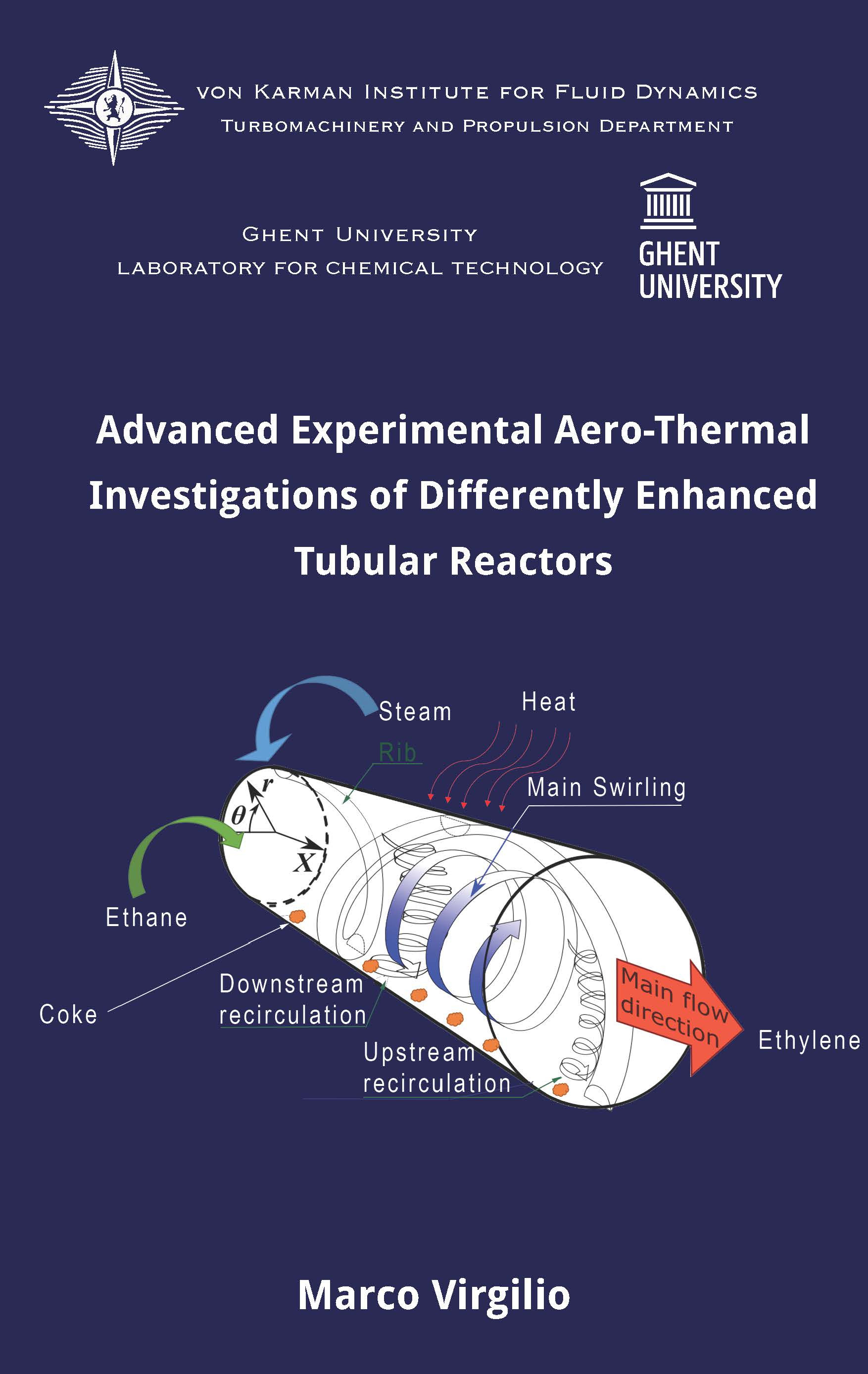 Advanced experimental aero-thermal investigations of differently enhanced tubular reactors  - Marco Virgilio - Ph.D. Thesis - Free download
