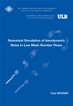 Numerical simulation of aerodynamic noise in Low Mach number flo