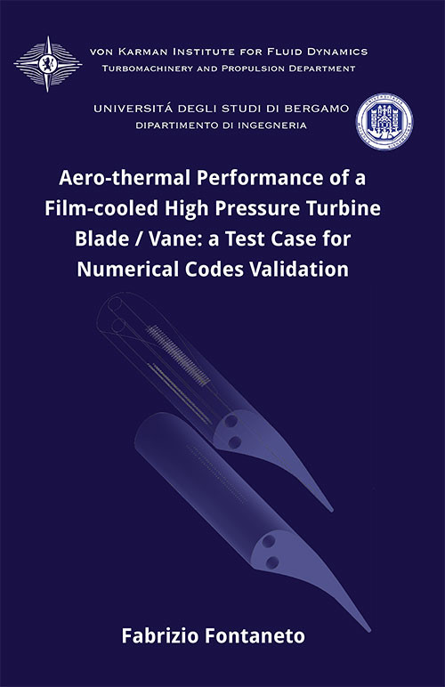 Aero-thermal performance of a film-cooled high pressure turbine blade/vane: a test case for numerical codes validation