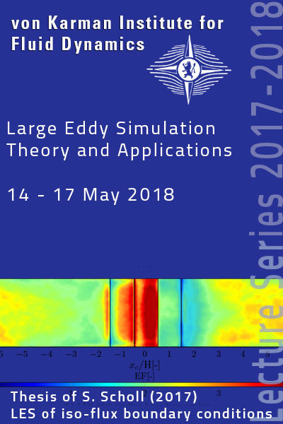 Large eddy simulation: Theory and applications -  hardcover - VKI LS 2018-03