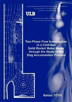 Two-phase flow investigation in a cold-gas solid rocket motor mo