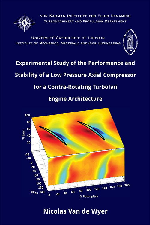 Experimental study of the performance and stability of a low pressure axial compressor for a contra-rotating turbofan engine architecture