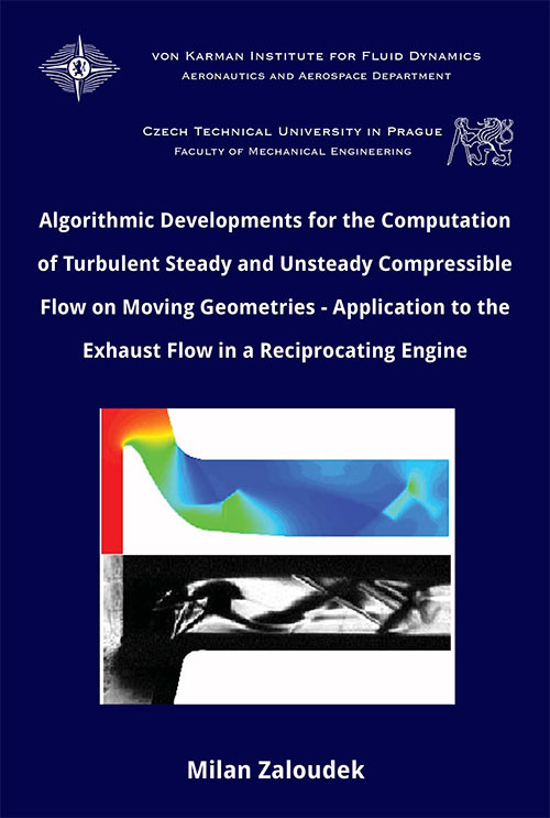 Algorithmic developments for the computation of turbulent steady and unsteady compressible flow on moving geometries